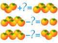 Action relationship of addition and subtraction, examples with persimmons. Educational games for children.