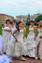 Action Runaway Bride Cosmopolitan 2012 Royalty Free Stock Photos