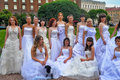 Action Runaway Bride Cosmopolitan 2012 Royalty Free Stock Photo