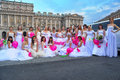 Action Runaway Bride Cosmopolitan 2012 Royalty Free Stock Images