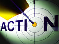 Action shows urgency to succeed in competition showing Royalty Free Stock Image