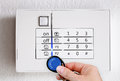 Activate alarm system Royalty Free Stock Photo