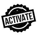 Activate rubber stamp Royalty Free Stock Photo