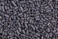 Activated carbon granules abstract background Royalty Free Stock Photos