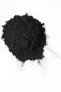 Activated charcoal powder shot with a macro lens Stock Photos