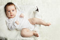 Active baby having fun portrait Stock Photos