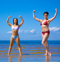 Active bodybuilding girls Royalty Free Stock Photography