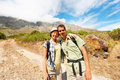 Active couple on a adventurous vacation Royalty Free Stock Photo