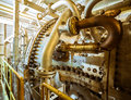 Active large industrial turbine closeup photo Royalty Free Stock Image