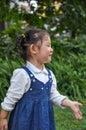 An active little girl