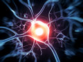 Active nerve cells d rendered illustration cell Stock Photography