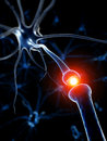 Active neurone d rendered medical illustration Stock Image