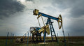 Active oil and gas well in remote rural area in europe Royalty Free Stock Photography