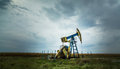 Active oil and gas well in remote rural area in europe Royalty Free Stock Images