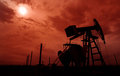 Active oil and gas well in remote rural area in europe Stock Image