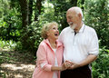 Active Senior Couple Copyspace Royalty Free Stock Photos