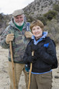 Active Senior Couple Hiking Royalty Free Stock Photography