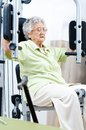 Active senior woman in a gym Royalty Free Stock Photos