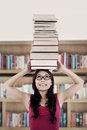 Active student in library Royalty Free Stock Images
