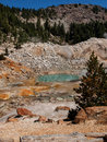 Active volcanic area in mountain valley bumpass hell a at lassen national park california Royalty Free Stock Image