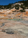 Active volcanic area in mountain valley bumpass hell a at lassen national park california Royalty Free Stock Photography