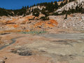 Active volcanic area in mountain valley bumpass hell a at lassen national park california Stock Photo