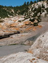 Active volcanic area in mountain valley bumpass hell a at lassen national park california Stock Image