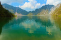 The active volcano Pinatubo and the crater lake, Philippines Royalty Free Stock Photo