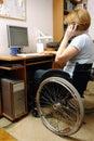Aktívne invalidný vozík žena