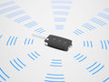 Active wireless car key sending radio beams Stock Photography