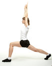 Active woman doing sport exercises Royalty Free Stock Photography