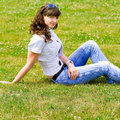 Active young girl Royalty Free Stock Photography