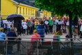 Activist protestors demonstration, in Helsinki