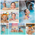 Activities on the pool Royalty Free Stock Photo