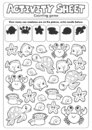Activity sheet counting game 1 Royalty Free Stock Photo