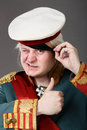 Actor dressed as napoleon historical costume Stock Photo