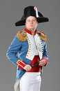 Actor dressed as napoleon historical costume Stock Photography