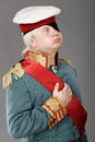 Actor dressed as russian generalissimo suvorov Stock Image