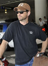 Actor Jason Priestley is seen at LAX Stock Photography