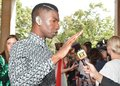 Actor Mamoudou Athie  at the `Unicorn Store` premiere at 2017 Toronto International Film Festival Royalty Free Stock Photo