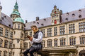 Actor performing Prince Hamlet at Kronborg Castle Royalty Free Stock Photo