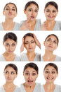 Actor's face, a compilation of emotions Royalty Free Stock Photo