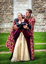 Actors In  Shakespeare Open Air Theater. King and Queen Royalty Free Stock Photo