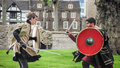 Actors Sword Fight. Open Air T...