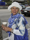 Actress Dame Helen Mirren is seen at LAX Royalty Free Stock Photography