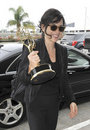 Actress Julianne Margulies & emmy award at LAX Stock Image