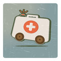 Acute care abstract cartoon image the medicine chest on wheels Royalty Free Stock Photography