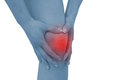 Acute pain in a woman knee Stock Photography
