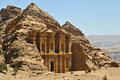 Ad deir petra monastery in jordan Royalty Free Stock Photography