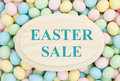 Easter Sale Shopping Special Offer Decorated Colorful Egg Holiday Banner